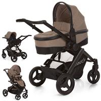 hauck Maxan 4 Plus Trio Set 2017 Stroller incl. Carrycot & Baby carseat 0+ Melange sand
