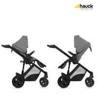 Hauck Maxan4 Plus Trio Set Kombikinderwagen mit Babyschale 2017 melange stone umsetzbare Sitzeinheit