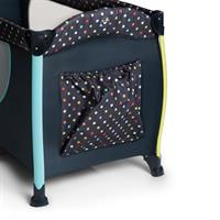 Hauck Sleep n Play Center II Reisebett 60x120cm Multi Dots navy 600573 Utensilien Tasche