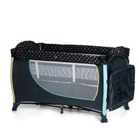 Hauck Sleep n Play Center II Reisebett 60x120cm Multi Dots navy 600573 Wickelauflage seitlich versta