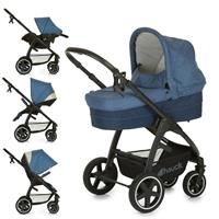 Hauck Soul Plus Trio Set Pushchair incl. Carrycot & Baby carseat 0+ Melange Navy