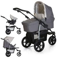 Hauck Viper SLX Trio-Set Stroller with Carry Cot & Infant Carrier Design 2019 Smoke / Grey