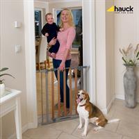 Hauck Wood Lock Safety Gate Schutzgitter zum Klemmen 75 81 cm 597033 Anwendung an Zimmertuer
