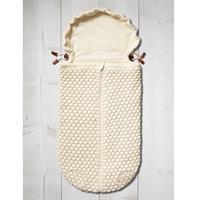 JOOLZ Essentials Nest Honeycomb Fusssack fuer Babyschale und Wanne  off white