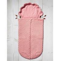 JOOLZ Essentials Nest Honeycomb Fusssack fuer Babyschale und Wanne pink