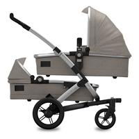 Joolz Geo Studio TWIN Graphite Zwillingskinderwagen mit zwei Wannen & Sitzen