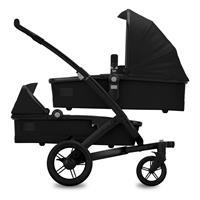 Joolz Geo Studio TWIN Noir Zwillingskinderwagen mit zwei Wannen & Sitzen