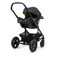 Joie iGemm 2017 iSize Babyschale Denim Zest Als Travel System mit Chrome DLX