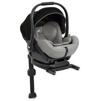 Joie i-Level infant carrier with reclining function allowed in car Gray Flannel