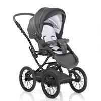 Knorr baby Classico Kinderwagen im Retro Design ab Geburt Grau Sportwagen mit Wickeltasche