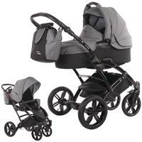 knorr baby Voletto Carbon Kinderwagen-Set mit Tragewanne, Wickeltasche & Beindecke