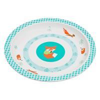 Lässig Kinderteller Dish Plate Melamine/Silicone Fuchs