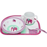Lässig Dish Set with Silicone - Wildlife Elephant