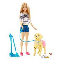 Mattel Barbie Hundespaziergang Barbie und Hündchen DWJ68