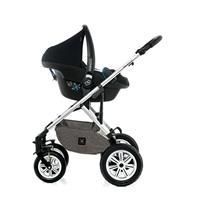 Moon Kombikinderwagen NUOVA | city stone melange | 63630210 970 Travel System mit Babyschale
