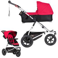 mountain buggy urban jungle Kombikinderwagen mit Carrycot plus ab Geburt Berry