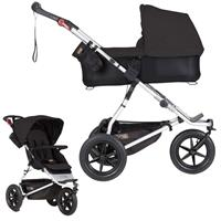 mountain buggy urban jungle Kombikinderwagen mit Carrycot plus ab Geburt Black