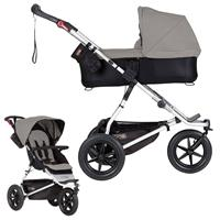 mountain buggy urban jungle Kombikinderwagen mit Carrycot plus ab Geburt Silver