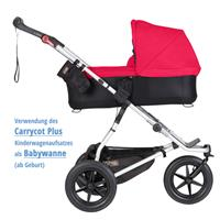 MountainBuggy Carrycot Plus Babywanne Urban Jungle chilli als Babywanne ab Geburt Detaillierte Ansic