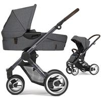 Mutsy Evo Kinderwagen mit Tragewanne Farmer Dark Grey / Fishbone Dawn