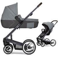 Mutsy Igo Kinderwagen mit Tragewanne Farmer Dark Grey / Fishbone Frost