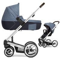 Mutsy Igo Kinderwagen mit Tragewanne Farmer Standard / Fishbone Blue Sky