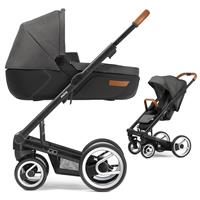 Mutsy Igo Kinderwagen mit Tragewanne Urban Nomad Black / Dark Grey