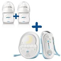 Philips Avent Babyphone-Set SCD505 & Naturnah-Flasche Doppelpack 125ml
