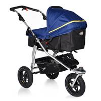 TFK Joggster Adventure Kinderwagen mit MultiX 2in1 Tragewanne ab Geburt 2017 Twilight Blue Wanne auf