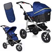 TFK Joggster Adventure Kinderwagen mit MultiX 2in1 Tragewanne & Sportsitz Fußsack Twilight Blue