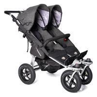 TFK Twin Adventure Premium Zwillingskinderwagen mit 12 Zoll Lufträdern Anthrazit