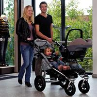 TFK Twinner Twist Duo Geschwisterkinderwagen Chocolate 17260 7 Detail Ansicht 07