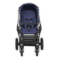 Teutonia BeYou Elite 2017 Kinderwagen Graphite R3 6125 Sapphire Frontansicht