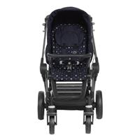 Teutonia BeYou Elite 2017 Kinderwagen Graphite R7R 6115 Royal 6175 Little Sailor Frontansicht