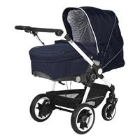 Teutonia BeYou Elite 2017 Kinderwagen Pearl R3 6175 Little Sailor VPTT 6115 Royal Schraeg