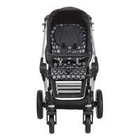 Teutonia BeYou Elite 2017 Kinderwagen Titanium R3 6105 GrisBleu 6165 Starlight Frontansicht