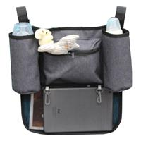 Altabebe Buggy Organizer with Bottleholder & Velcro Grey