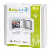 BabyArt My Baby Touch Bilderrahmen für einen Hand- oder Fußabdruck Farbe Weiß / Grau