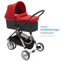 baby jogger CityMini3 Buggy 2016 CrimsonGray Kombikinderwagen mit Deluxe Wanne Detail 05