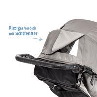 baby jogger city elite kinderwagen 2016 grau verdeck mit sichtfenster Ansichtsdetail 09