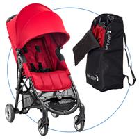 Baby Jogger City Mini ZIP Red Buggy mit Transporttasche