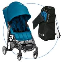 Baby Jogger City Mini ZIP Teal Buggy mit Transporttasche