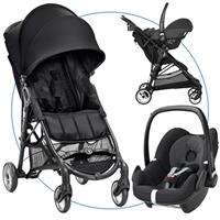 Baby Jogger City Mini ZIP Travel Set Black mit Babyschale Pebble