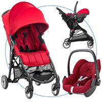 baby jogger city mini zip travel system buggy mit pebble 2016 red robin red Hauptbild
