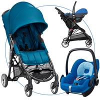 Baby Jogger City Mini ZIP Travel Set Teal mit Babyschale Pebble