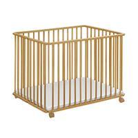 Baby-Plus Holzlaufgitter Ludo Natur 102 x 102 cm