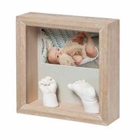 BabyArt Picture Frame My Baby Sculpture Stormy for Foot/Handprint