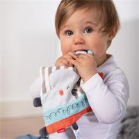 BabyFehn Knistertuch Nilpferd mit Ring