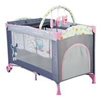 babyGO Reise und Spielbett Sleepwell Pink