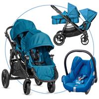 Baby Jogger City Select für Geschwister Teal